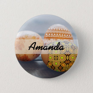 Rustic Painted Easter eggs 2 Inch Round Button