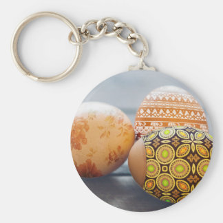 Rustic Painted Easter eggs Keychain