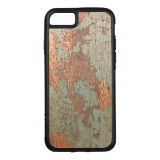 Rustic painted wood phone case