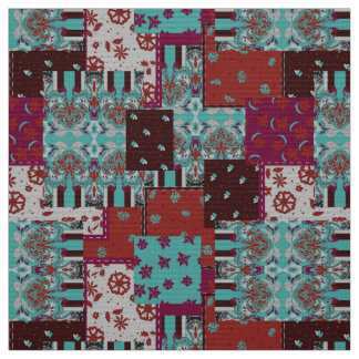 Rustic paisley pattern eastern fashion patchwork fabric