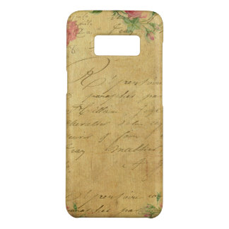 rustic,Parchement,worn,floral,letters,vintage,vict Case-Mate Samsung Galaxy S8 Case