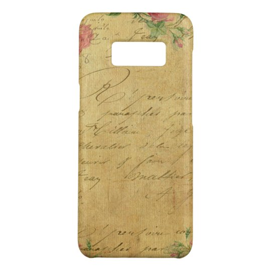 rustic,Parchement,worn,floral,letters,vintage,vict Case-Mate Samsung Galaxy S8 Case