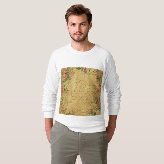 rustic,Parchement,worn,floral,letters,vintage,vict Sweatshirt