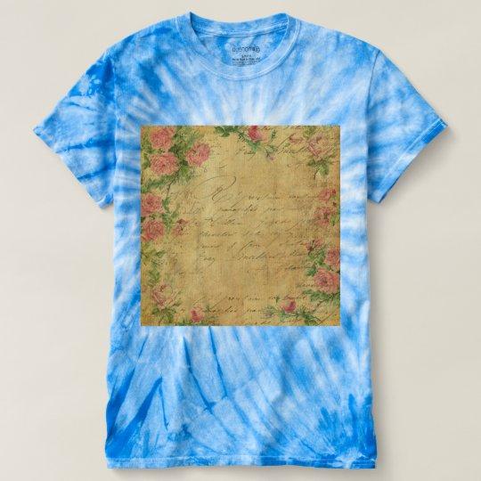 rustic,Parchement,worn,floral,letters,vintage,vict T-shirt