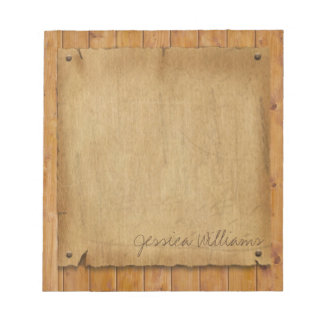 Rustic Parchment Notepad