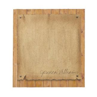 Rustic Parchment Notepads