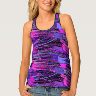 Rustic Pastel Strokes Shadow Tank Top