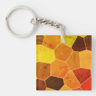 Rustic Pattern Keychain