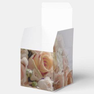 Rustic Peach Rose White Wedding Design Favor Box