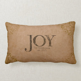 Rustic Personalized Joy Pillow
