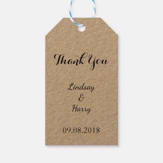 Rustic Personalized Thank You Gift Tags Pack Of Gift Tags