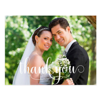 Rustic Photo Wedding Thank You Card