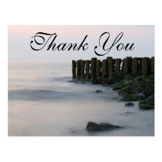 Rustic Pier on the Beach | Thank You Card Postcard