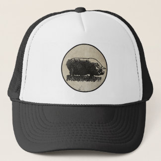 Rustic Pig Etching Trucker Hat