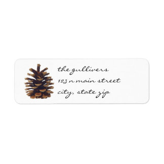 Rustic Pine Cone Return Address Labels