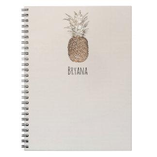 Rustic Pineapple Tropical Hawaiian Notebook