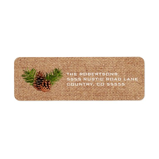 Rustic Pinecones and Branches Return Address Label