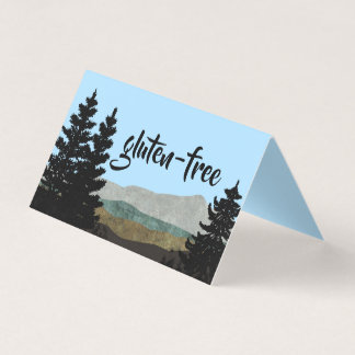 Rustic Pines Food Table Tent Cards   You Customize
