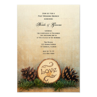 Rustic Pines Woodland Post Wedding Brunch Invite