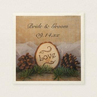 Rustic Pines Woodland Wedding Disposable Napkin
