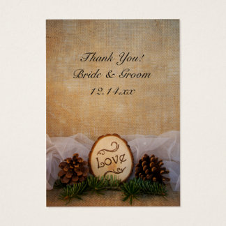 Rustic Pines Woodland Wedding Favor Tags
