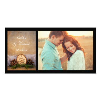 Rustic Pines Woodland Wedding Save the Date Photo Greeting Card