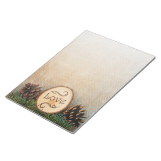 Rustic Pines Woods Wedding Notepad