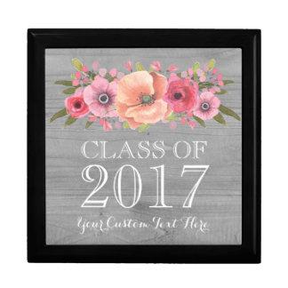 Rustic Pink Floral Graduation Keepsake Gift Box