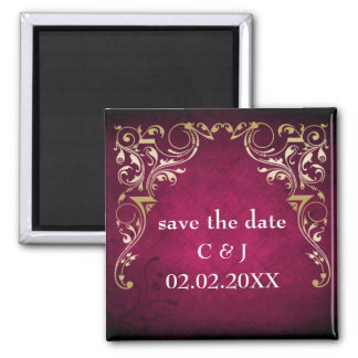 rustic pink regal save the date magnets fridge magnet