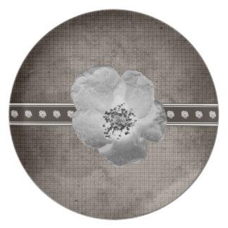 Rustic Plaid Flower Plate