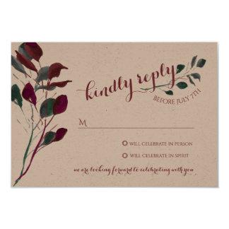 Rustic Plum | Wedding Reply Card