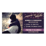 Rustic Poster: Aubergine Dream Save the Date Photo Greeting Card