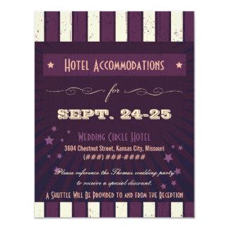 Rustic Poster: Aubergine Purple Accommodation Card