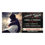 Rustic Poster: Red & Black Save the Date