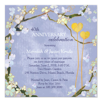 Rustic Powder Blue Wedding Anniversary Card