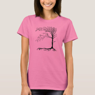 Rustic Primitive Tree Long Sleeve Womens Shirt