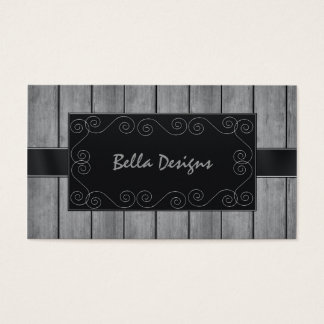 Rustic Professional Business Card