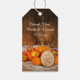 Rustic Pumpkins Fall Wedding Favor Tag Pack Of Gift Tags