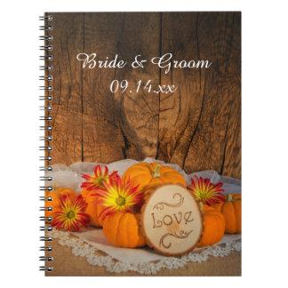 Rustic Pumpkins Fall Wedding Notebooks