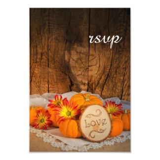 Rustic Pumpkins Fall Wedding RSVP Card