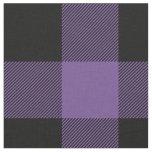 Rustic Purple and Black Buffalo Plaid Fabric
