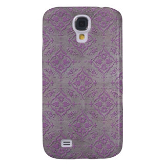 Rustic Purple and Steel Grey Damask