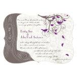 Rustic Purple Love Bird Romantic Tree Wedding