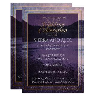 Rustic Purple Mountain Wilderness Lake Landscape Card