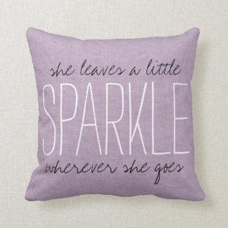Rustic Purple Sparkle Throw Pillow