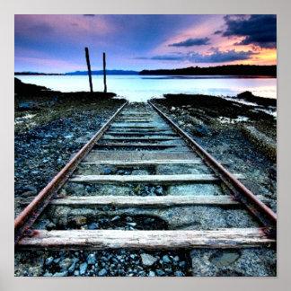 Rustic Railroad Poster