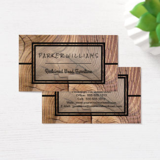 Rustic Reclaimed Wood Furniture Business Business Card
