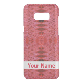 Rustic Red Abstract Design Get Uncommon Samsung Galaxy S8 Plus Case