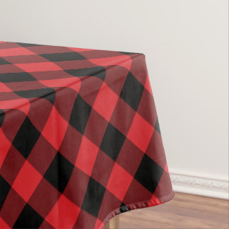 Rustic Red and Black Buffalo Plaid Tablecloth