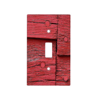 Rustic red barn light switch cover
